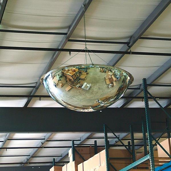استفاده از آینه محدب 360 درجه در انبار