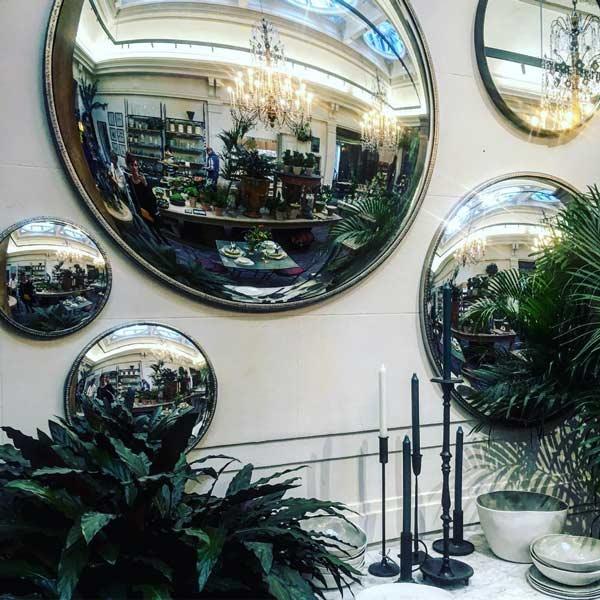 استفاده از آینه محدب در فروشگاه جهت بهبود ایمنی و امنیت