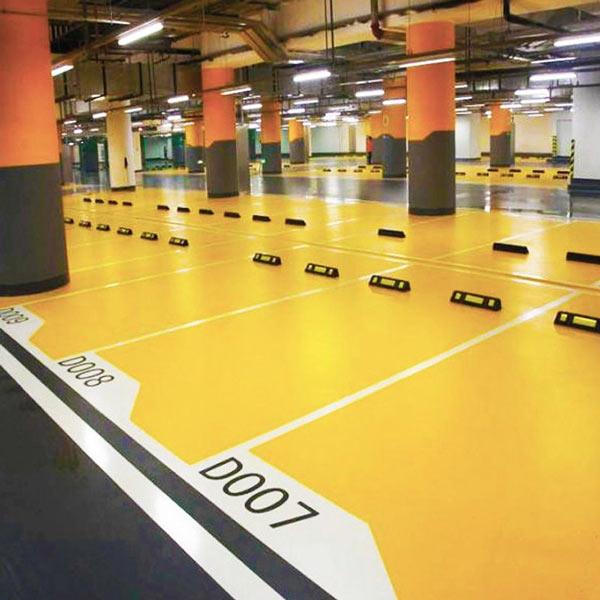 امنیت و آراستگی فضای پارکینگ، از طریق مشخص نمودن مرز پارکینگها