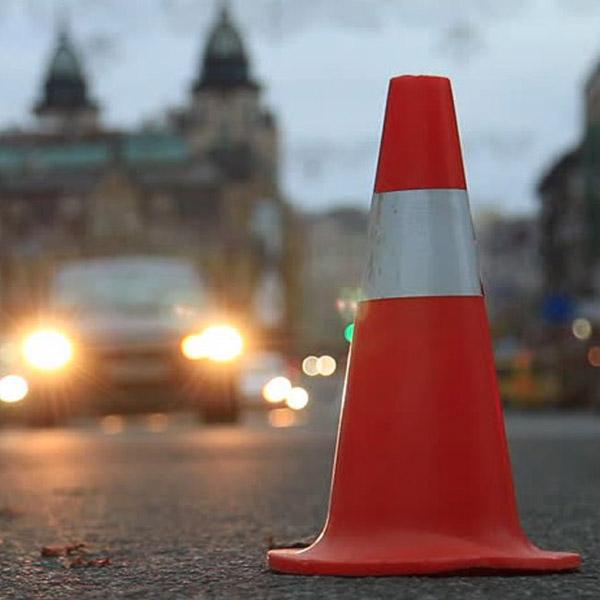 مخروط ترافیکی جهت افزایش دید و دقت رانندگان