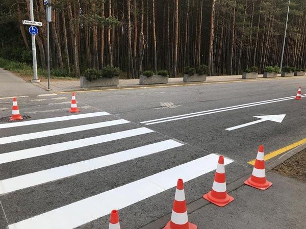 مخروط ایمنی جهت جداسازی و مشخص نمودن مسیر و حریم راه