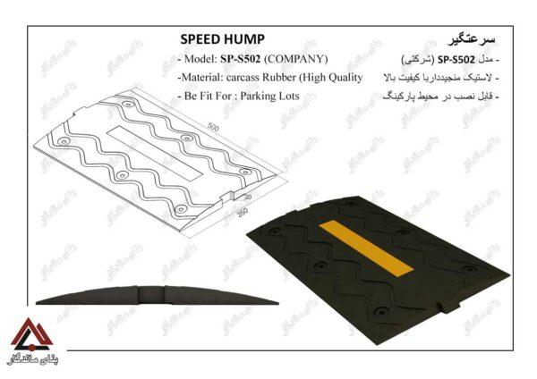 سرعت گیر از جنس لاستیک منجیددار با کیفیت بالا در ابعاد 50در35 سانتی متر